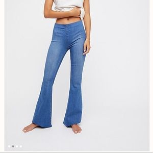 Free People Penny Pull-up flare jeans